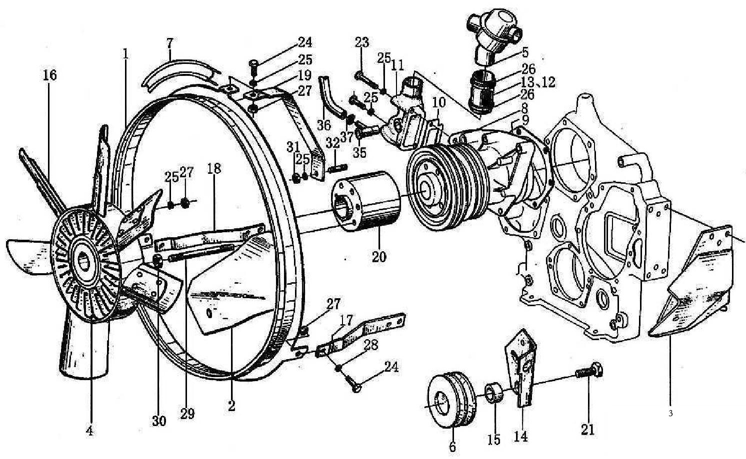 Water Pump Amp Ventilator Sinotruk Howo Spare Parts Catalog