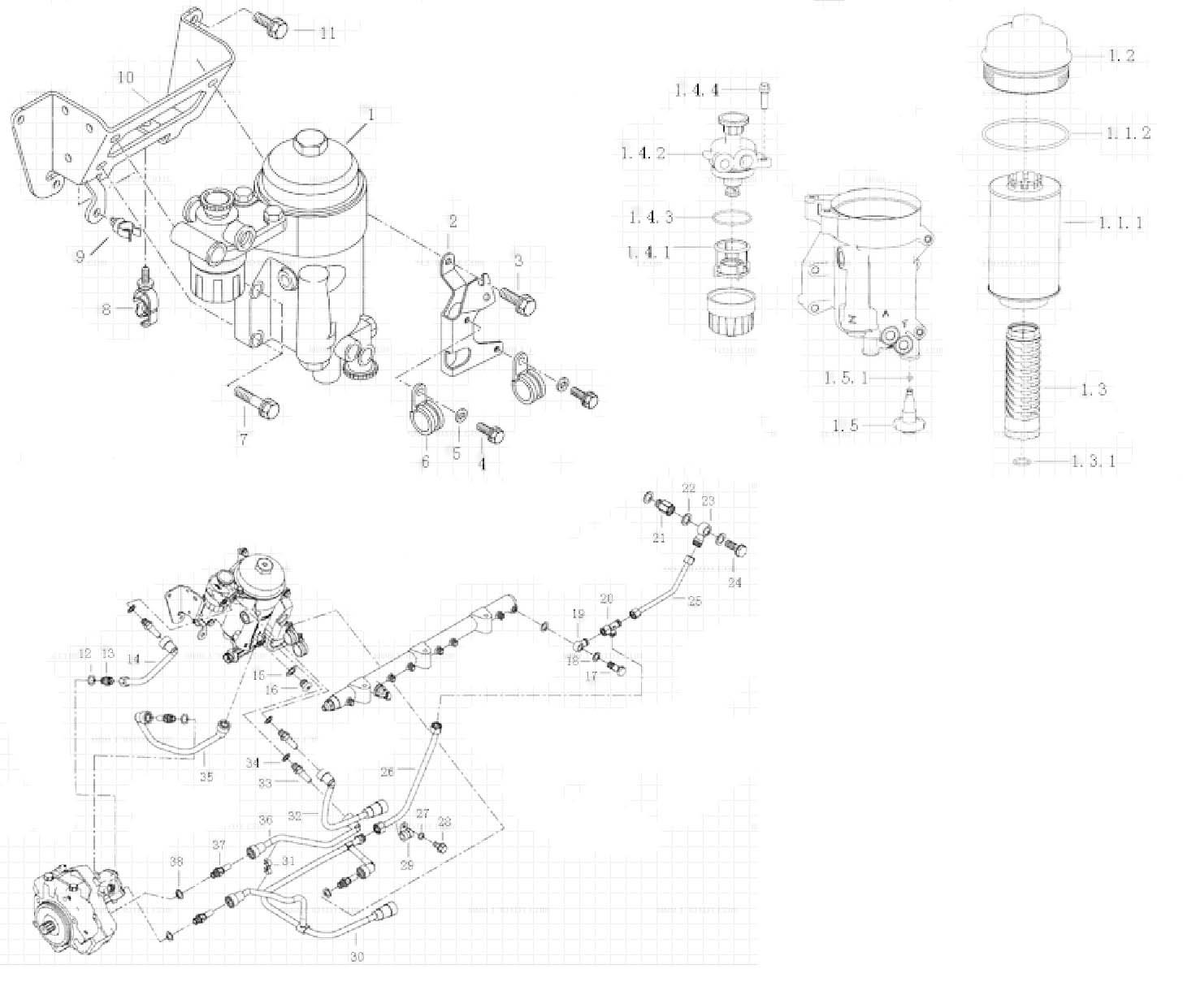 Fuel Filter Mc11 Engine Parts Catalogs