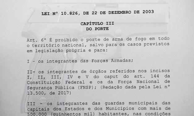 SinpecPF ingressa com ação coletiva contra proibição ao porte de arma