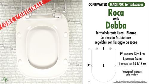 Abattant Wc Debba Roca Modele Type Comme L Original Duroplast Sintesibagno Shop Online