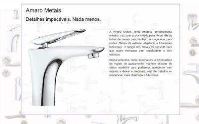Novo site em Asp.Net: Amaro Metais