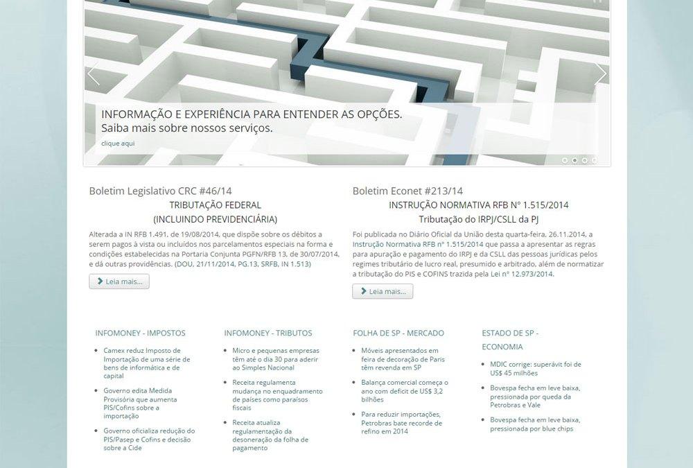 Novo site em Joomla para Escritório Contábil Valle