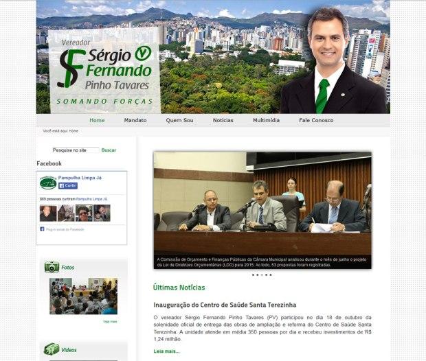Vereador Sérgio Fernando Pinho Tavares