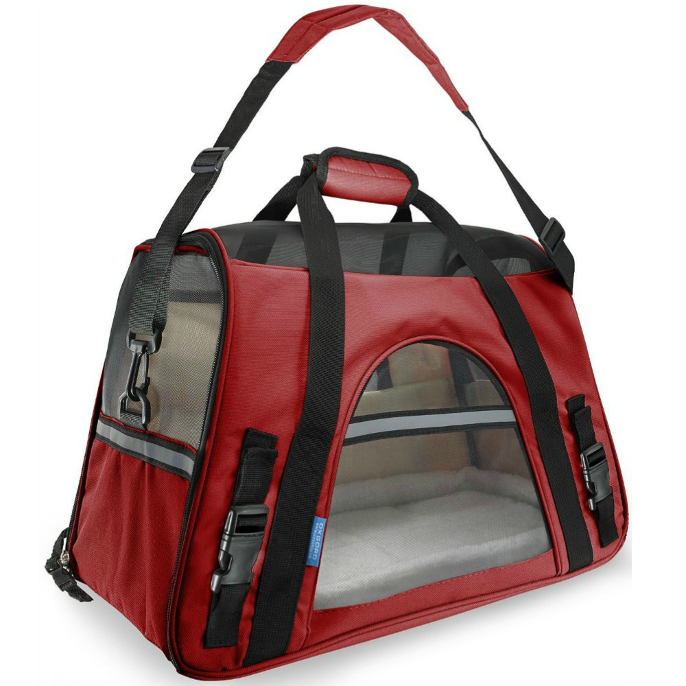 OxGord Airline Approved Pet Carrier with Fleece Bed