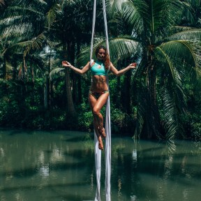 Tropical Island Water Aerial Silks