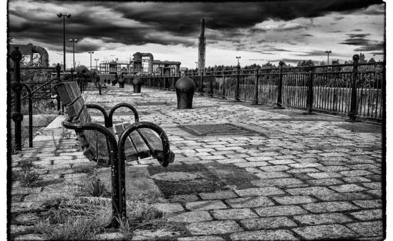 Moody clouds over the industry of Birkenhead