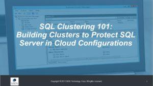 SQL Clustering 101