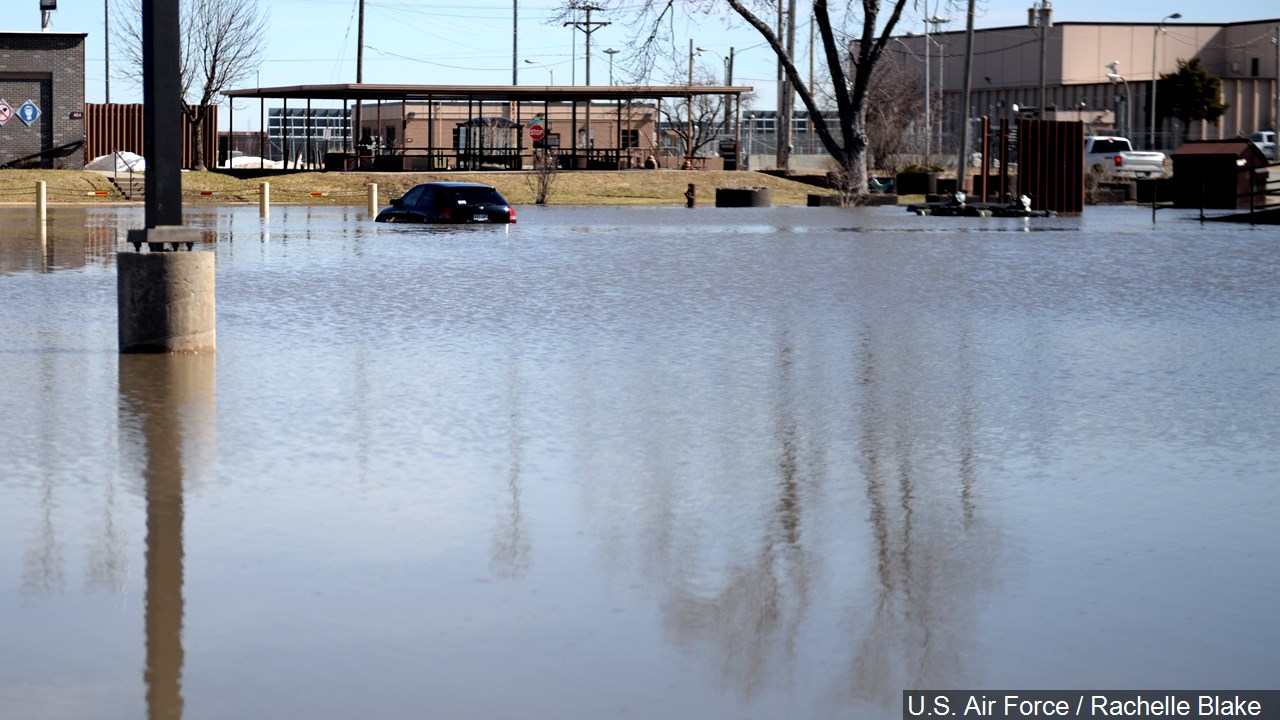 Offutt Airforce Base flooded, March 2019