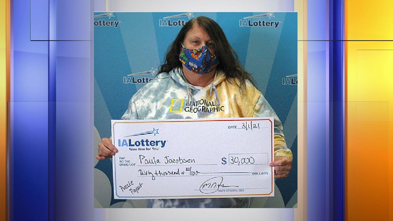 Paula Jacobsen,iowa lottery,kcau,