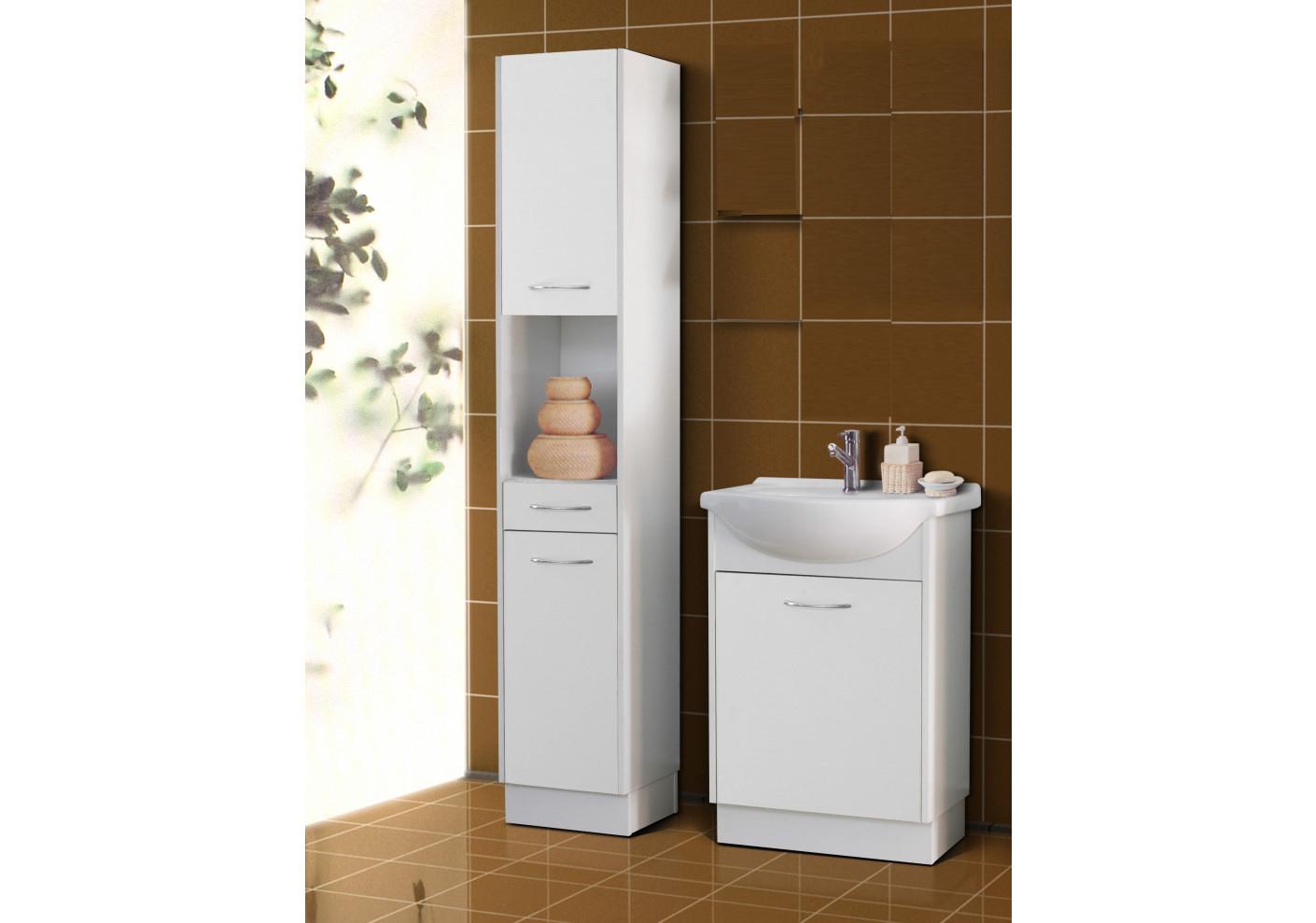 salle de bains nancy blanc 1 colonne 1 meuble lavabo 1 vasque