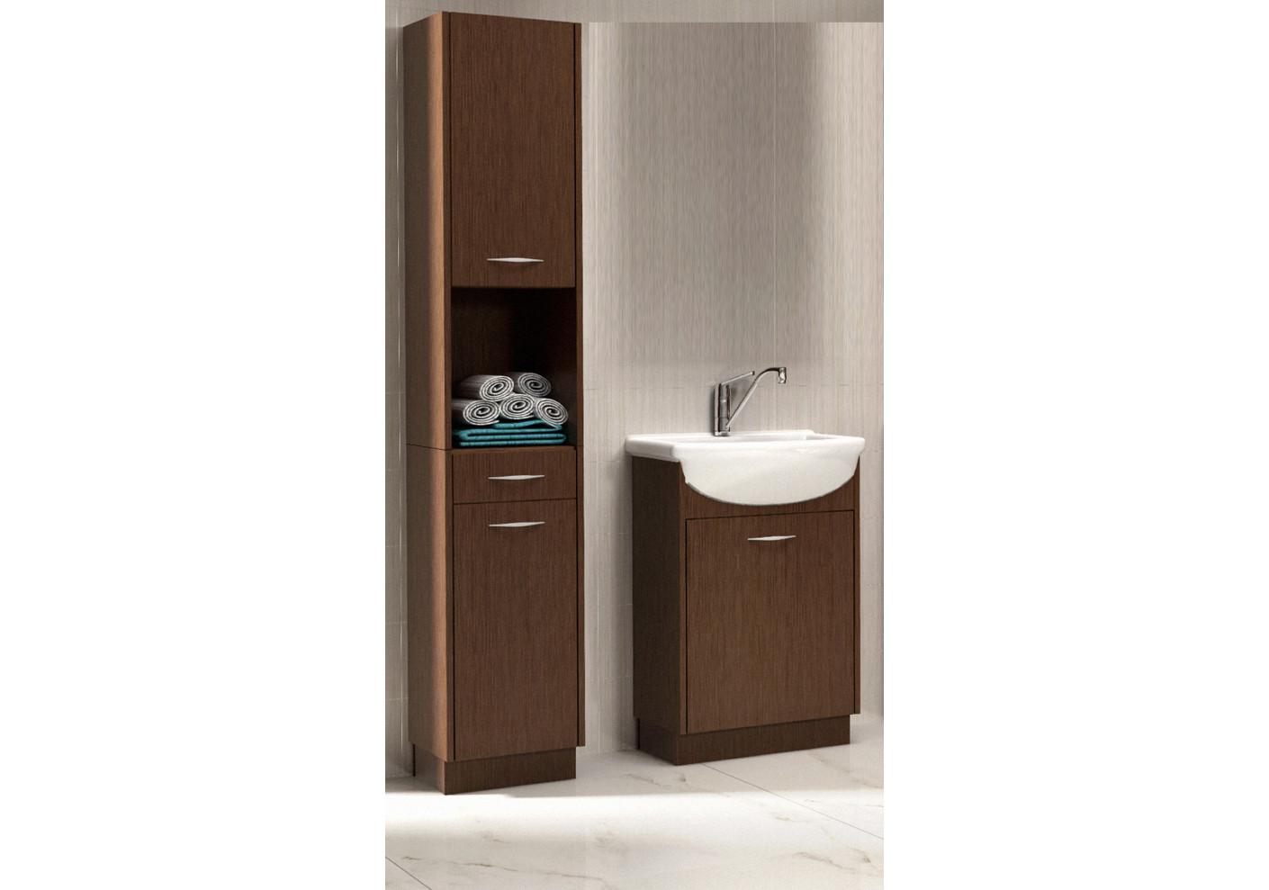 salle de bains nancy wenge 1 colonne 1 meuble lavabo 1 vasque