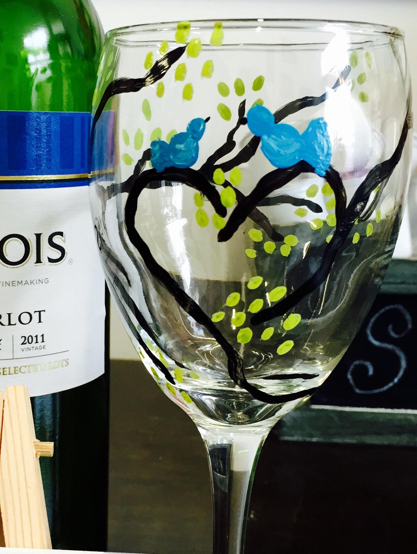 Love Bird Wineglasses
