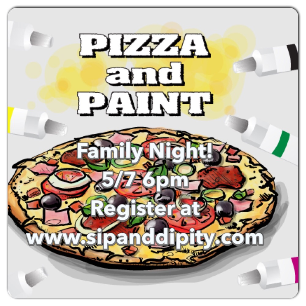Family Open Paint Pizza Party