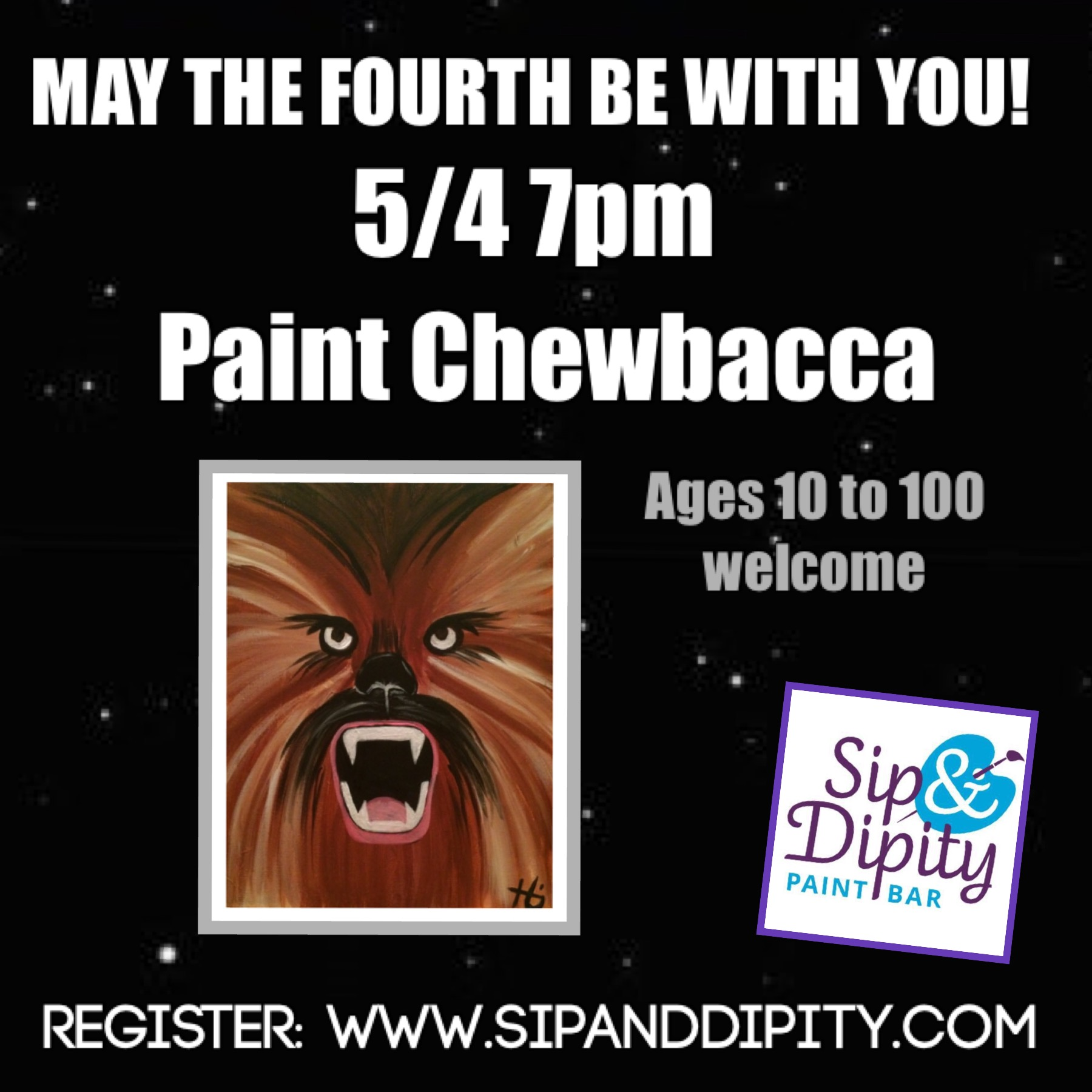 STAR WARS FAMILY PAINT PARTY