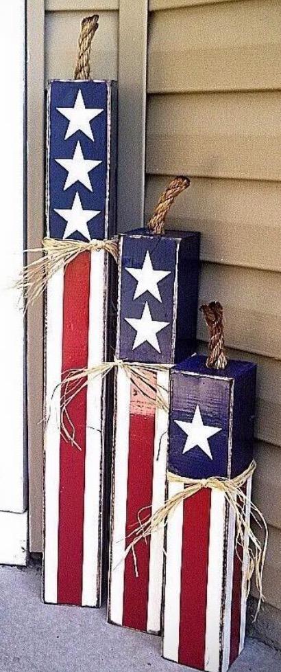 Wood Firecracker Porch Decor