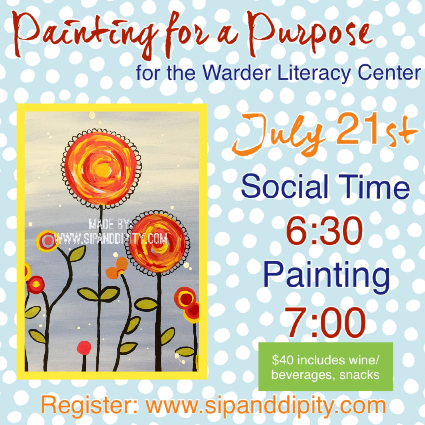 Painting for a Purpose- Warder Literacy Center