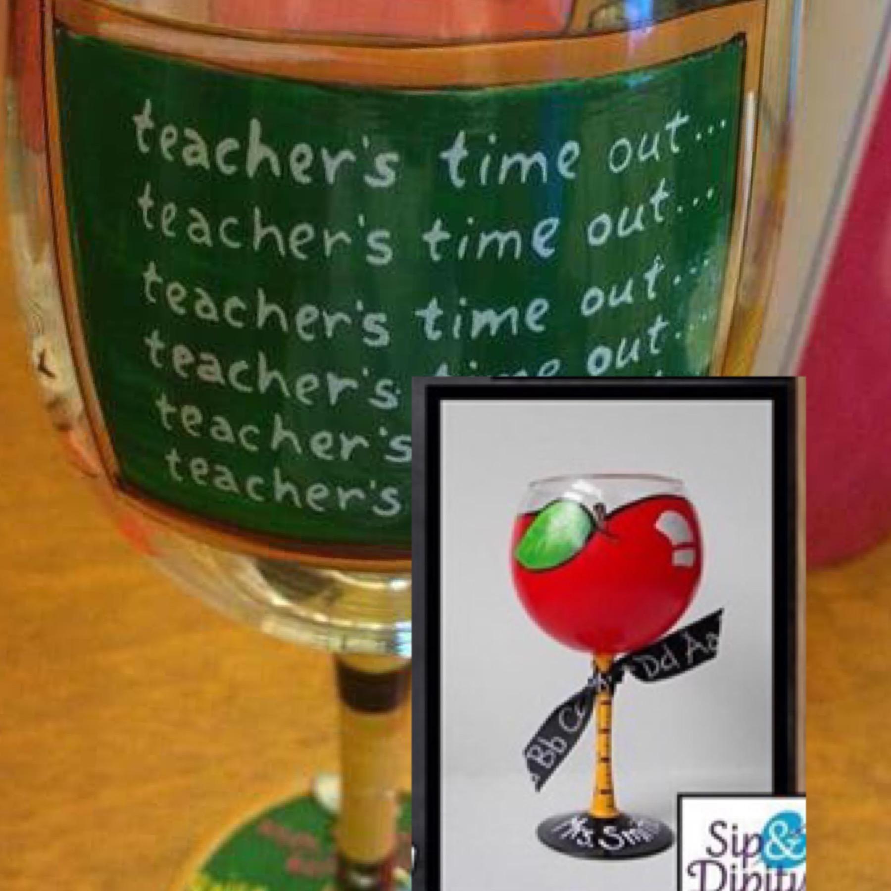 Teacher Wineglass Party