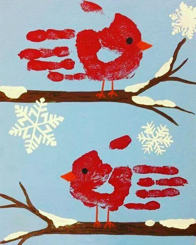 CreARTive Kids Winter Red Cardinals