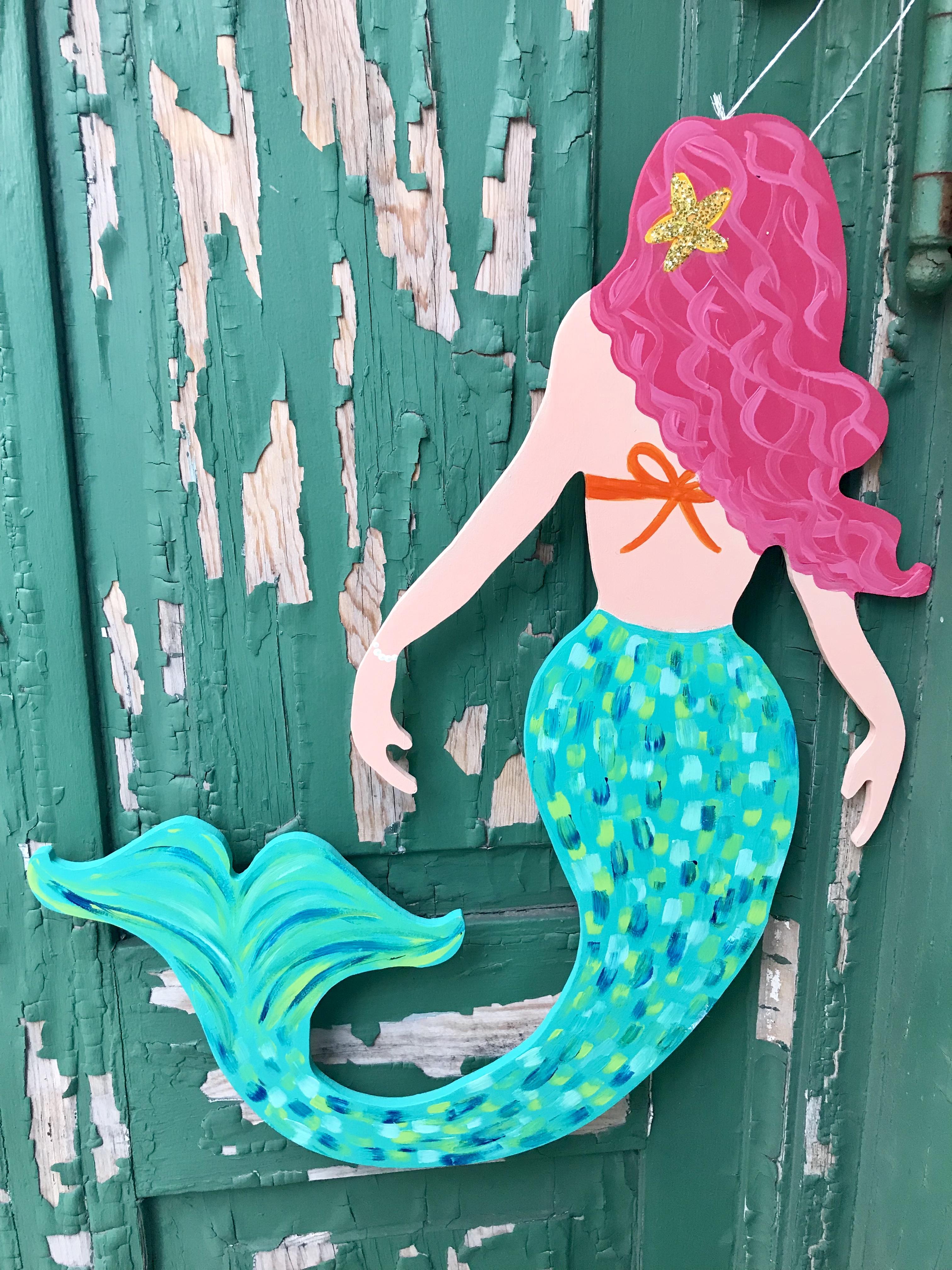 Mermaid Wood Cutouts