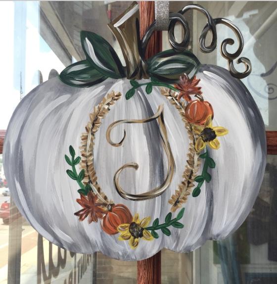 Wood Pumpkin Door Hanger Paint Party at Devil Wind