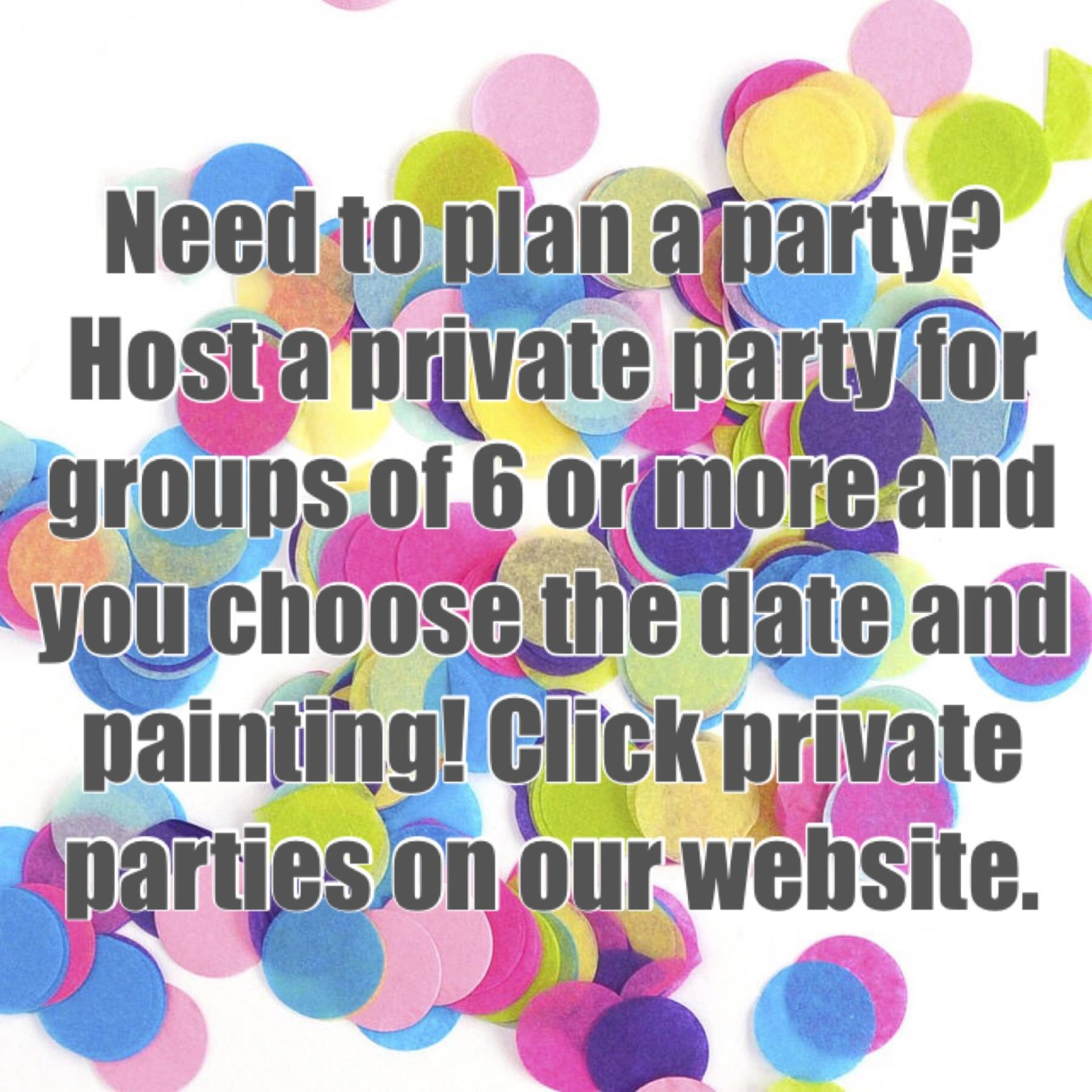 Now Booking Private Parties