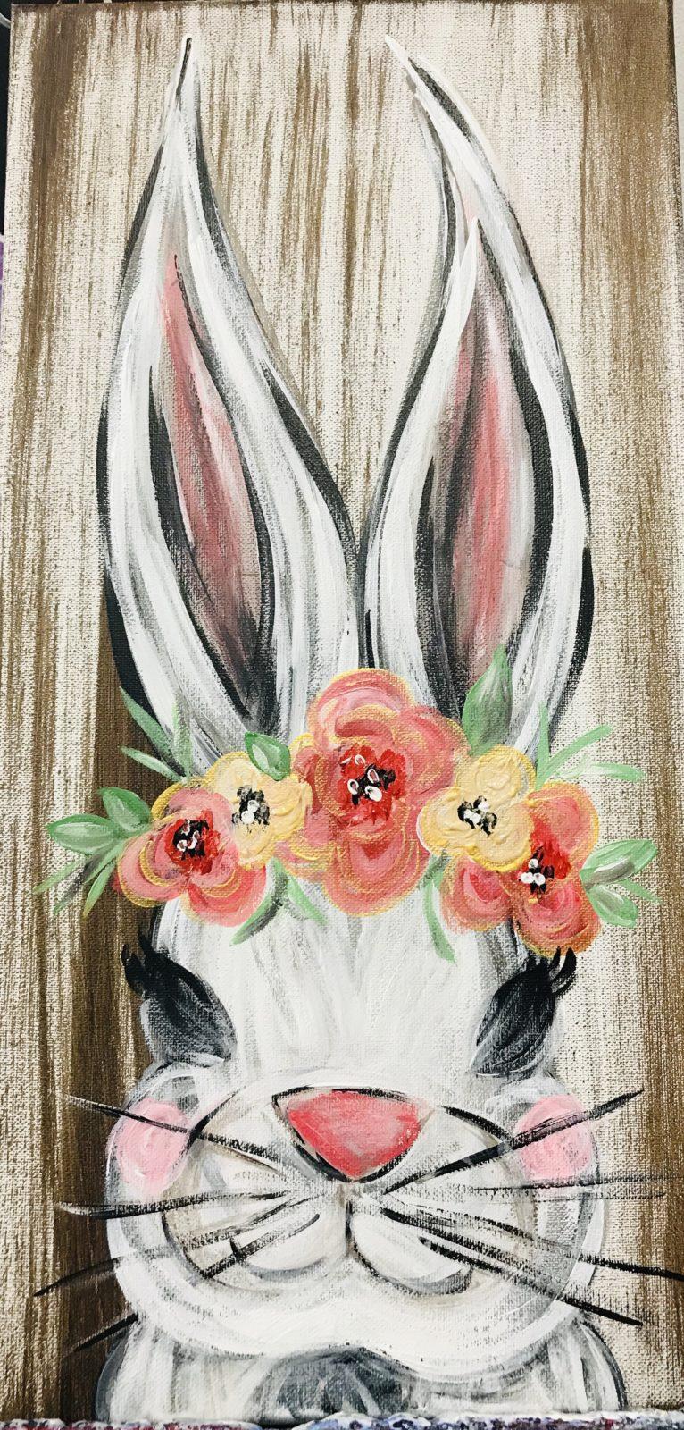 First Friday Paint Party- Farmhouse Bunny