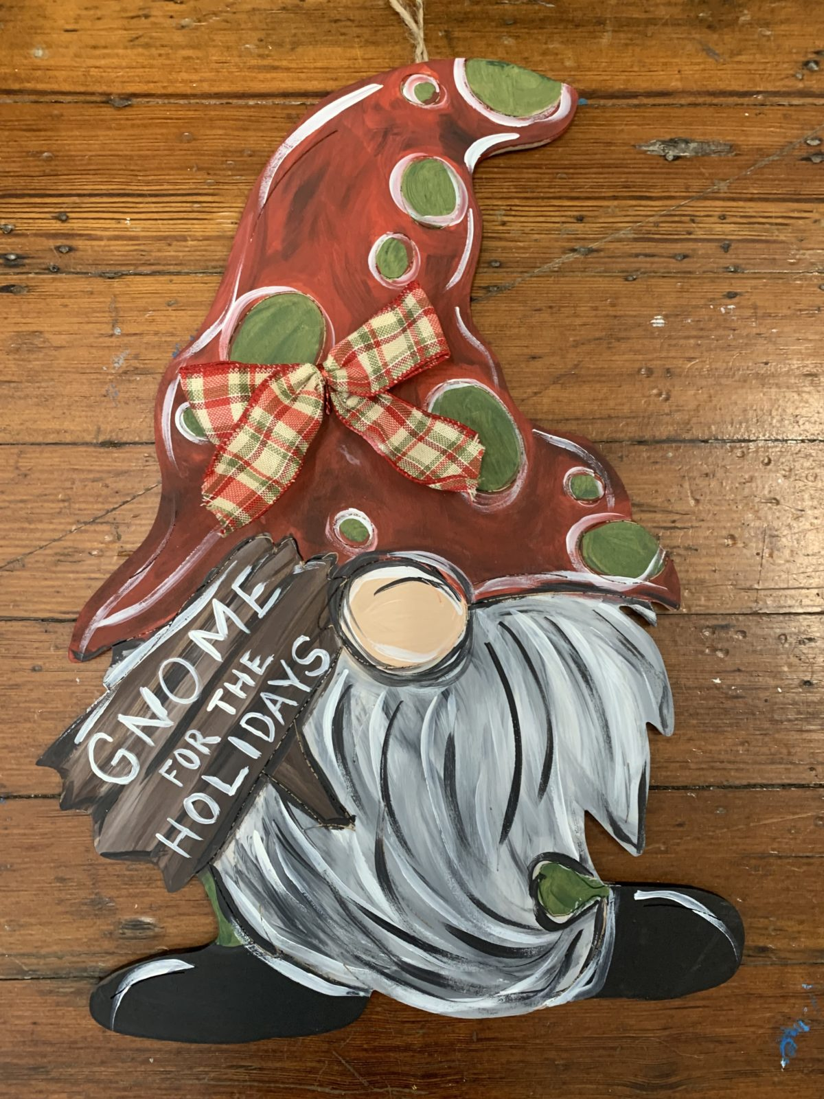 Gnome Wood Cutout- Order here