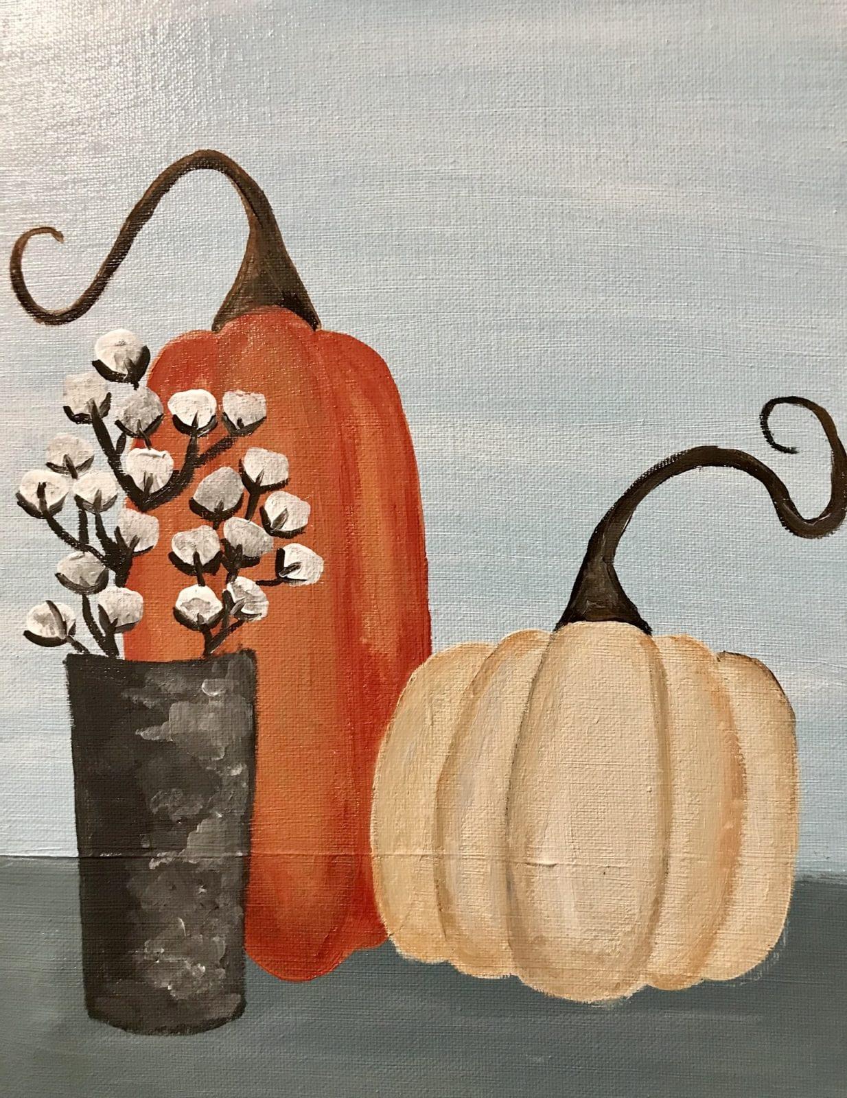 Pumpkins on Canvas