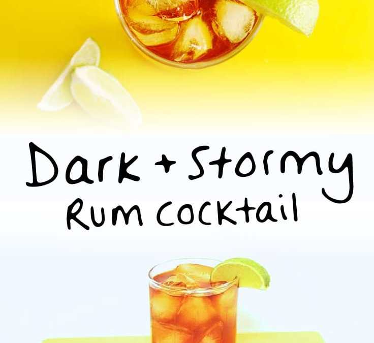 Cocktail recipe for Dark & Stormy drink