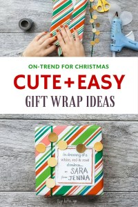 Wrap gifts worth taking Christmas selfies with... get quick + easy tips #holidayprep #prettygifts