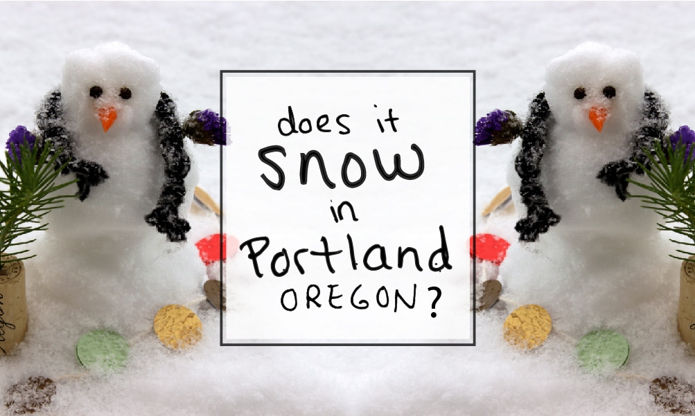 Does it snow in Portland, Oregon in December?