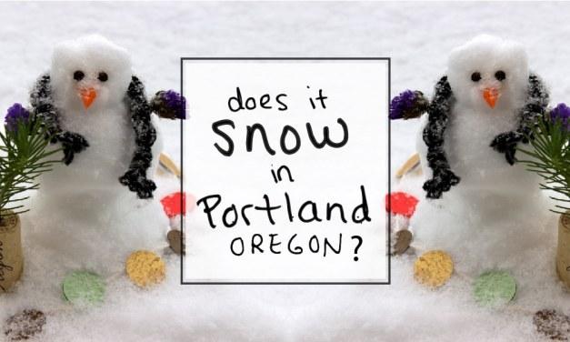 Does it snow in Portland, Oregon in December?