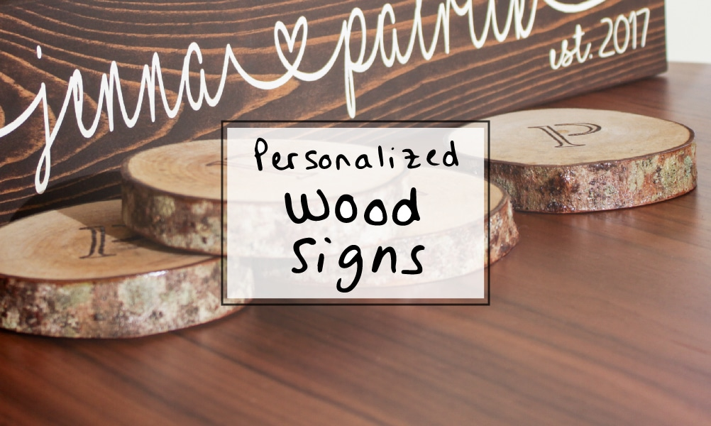 Wedding Gift Idea: Personalized Wood Sign for Couples