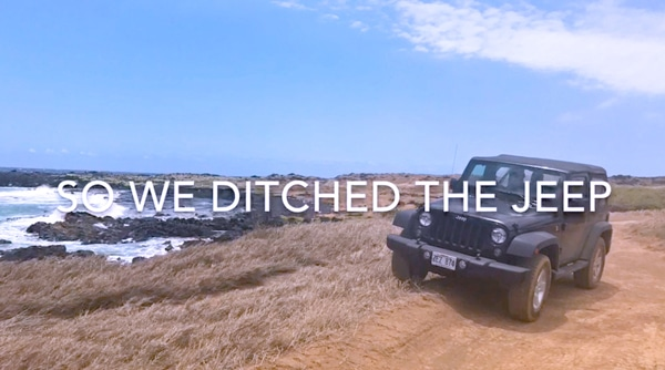 Do 4wd Jeep excursions in Hawaii at Green Sand Beach