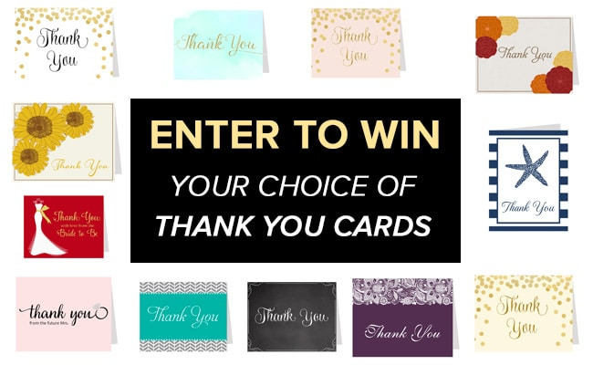 Wedding Contest: Win Thank You Cards