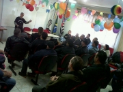 Após a Passeata, o presidente Rebouças orientando colegas Policiais e Delegados Sindicais sobre os futuros movimentos.