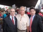 Presidente do SIPESP; João Rebouças , Diretor Jurídico SIPESP; Dr. Manuel e Coordenador Jurídico; Dr. Wilson.