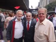 Presidente do SIPESP; João Rebouças , Deputado Federal; Ivan Valente e  Diretor Jurídico SIPESP; Dr. Manuel.