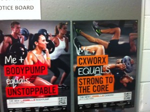 Body Pump 81 and CX Worx 6 Posters