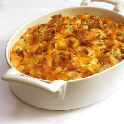 Mashed Potatoes with Bacon & Cheddar