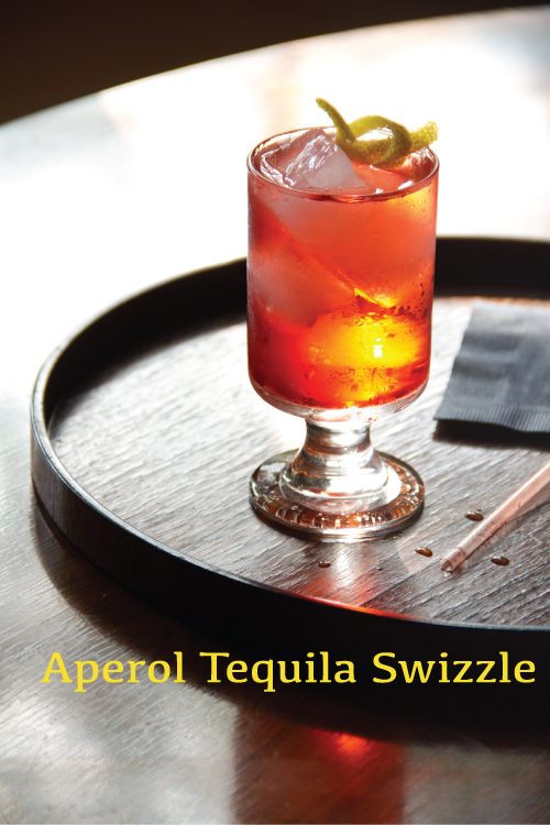 Aperol Tequila Swizzle from Savory Cocktails by Greg Henry