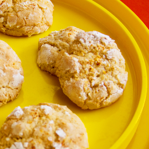 lemon crackle cookies with cayenne