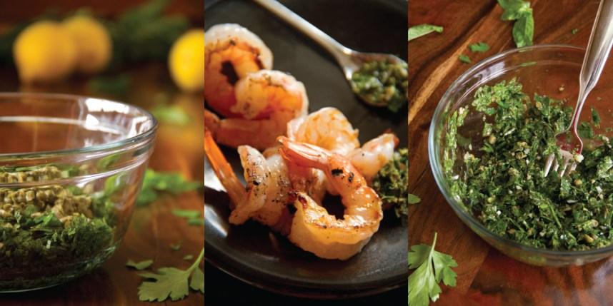 Grilled Shrimp with Salsa Verde