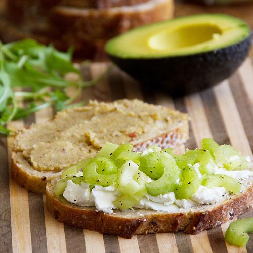 Celery, Avocado & Goat Cheese Sandwich