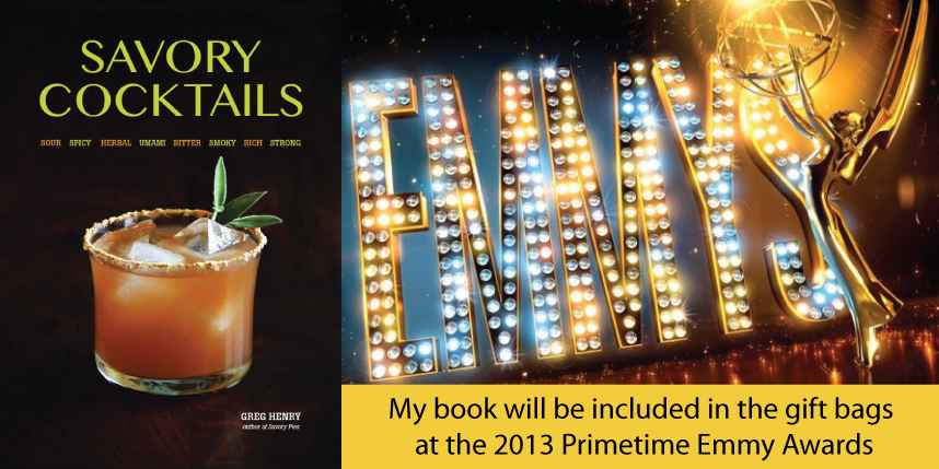 Prime Thyme Cocktail for the Emmy Awards & Savory Cocktails