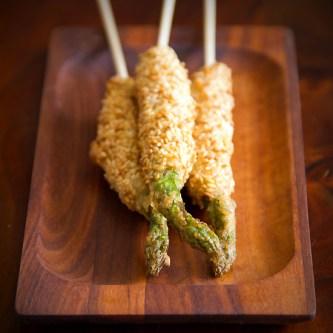 sesame asparagus sticks