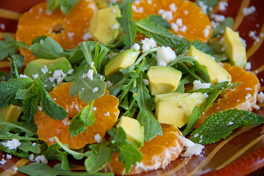Tangerine and Avocado Salad