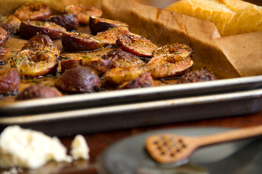 Roasted Figs with Gorgonzola and Rosemary