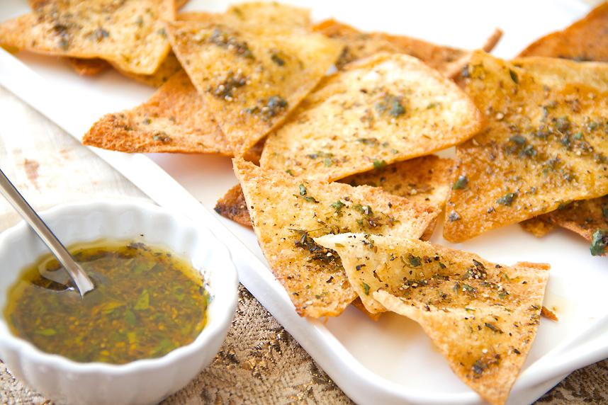 Spicy Cumin Pita Chips Recipe