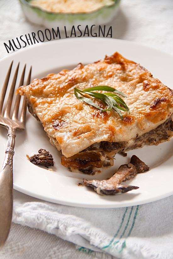 Mushroom Lasagna with Gorgonzola